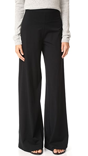 GETTING BACK TO SQUARE ONE High Rise Palazzo Pants - Black