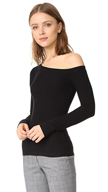 GETTING BACK TO SQUARE ONE One Shoulder Pullover