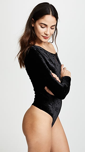 GETTING BACK TO SQUARE ONE The Velour One Shoulder Bodysuit