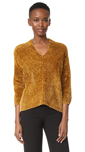 Giada Forte English Knit V Neck Sweater In Oro