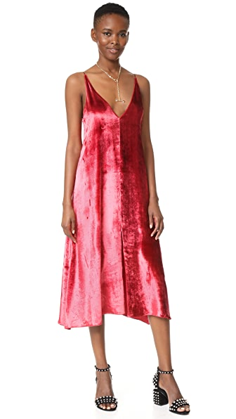 Giada Forte Velvet Slip Dress