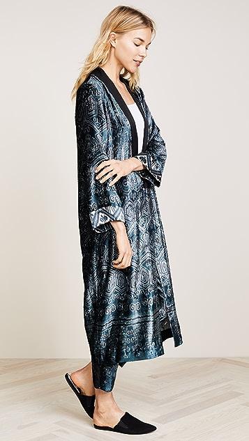 Giada Forte Velvet Duster Coat