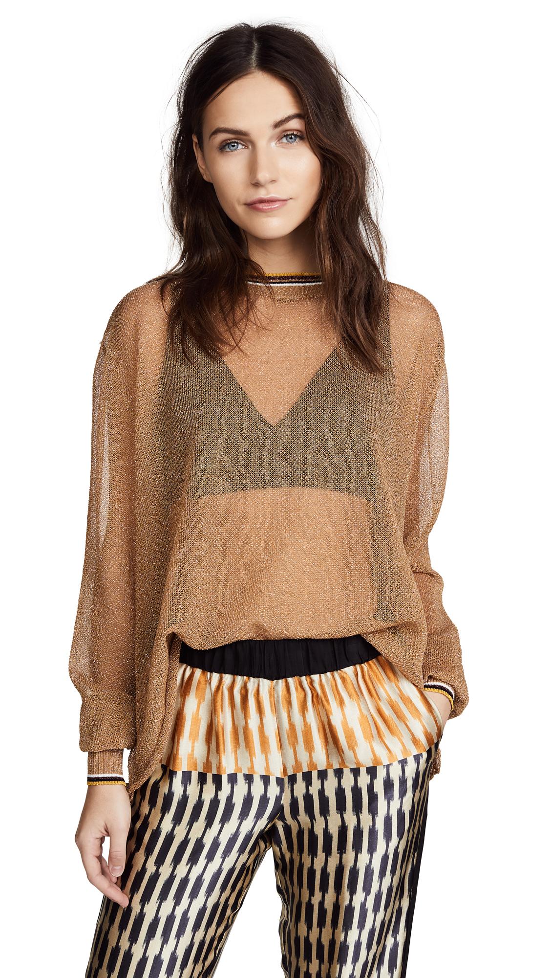 Giada Forte Metallic Oversized Sweater