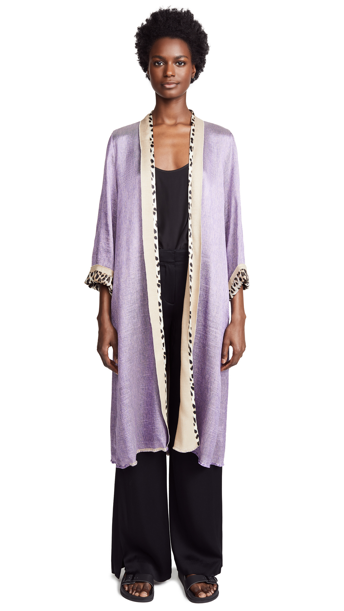 Forte Forte Polished Diagonal Coat In Lilac