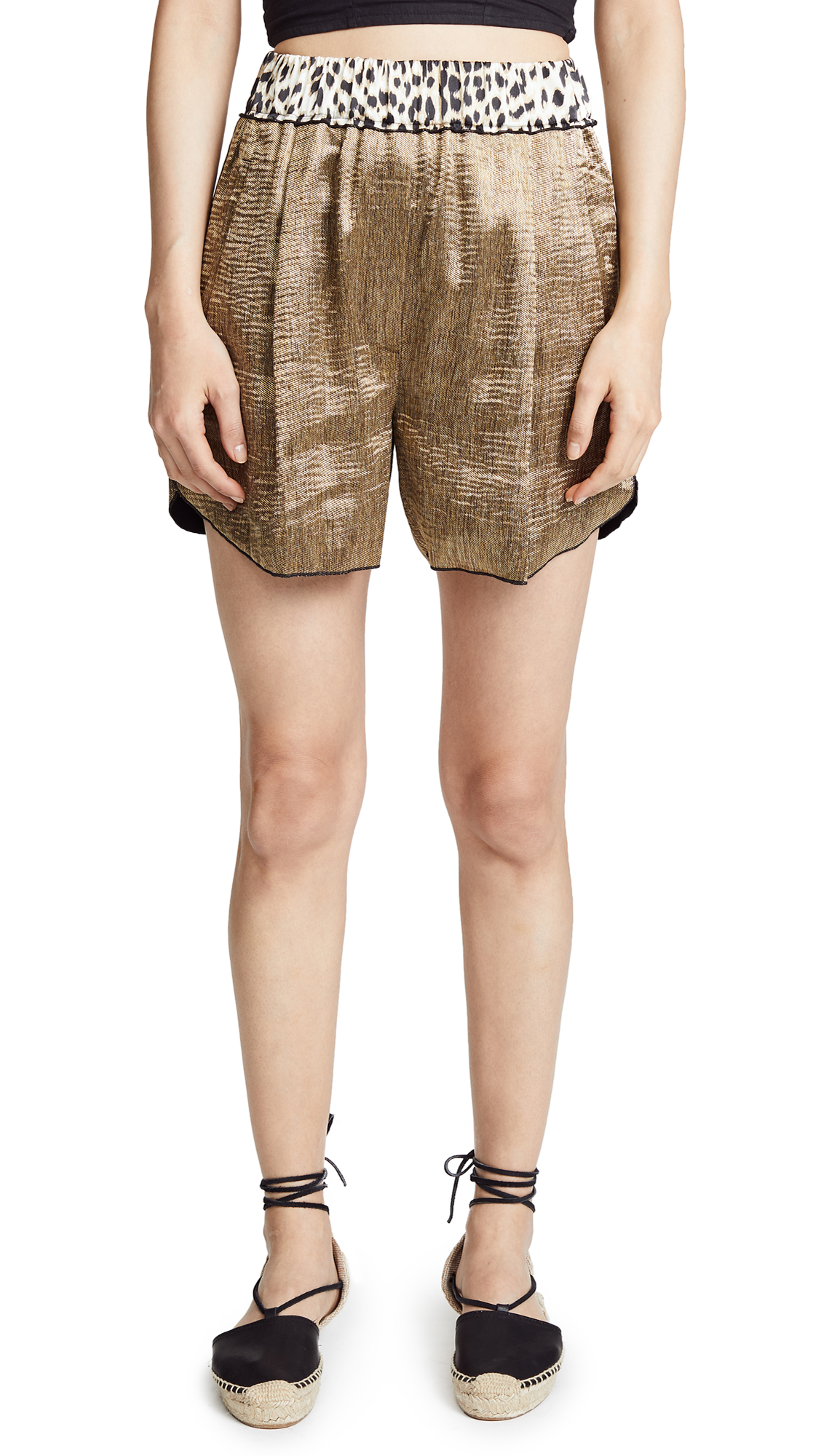 GIADA FORTE POLISHED DIAGONAL SHORTS