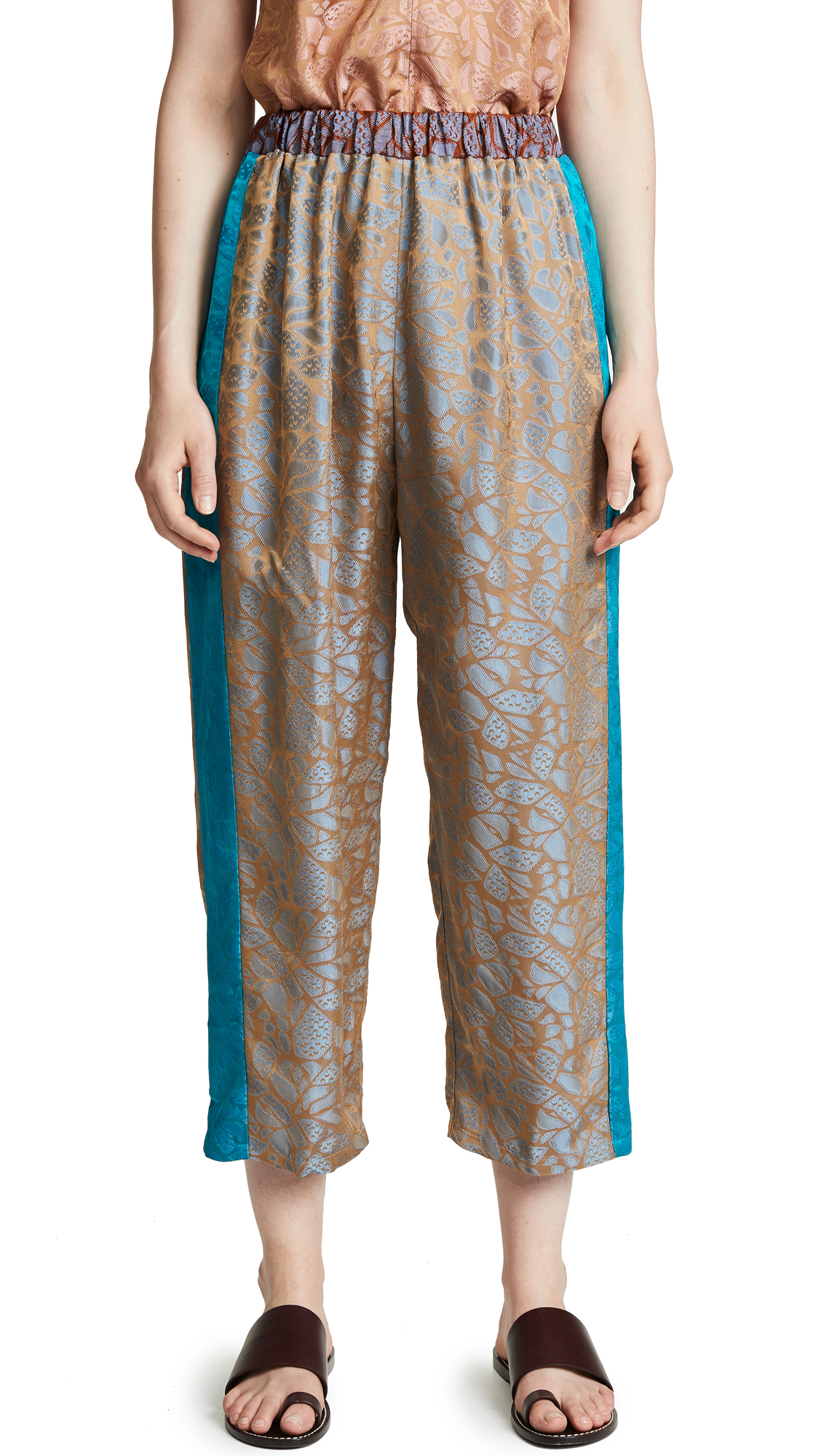 GIADA FORTE Autumn Leaf Pants in Mare