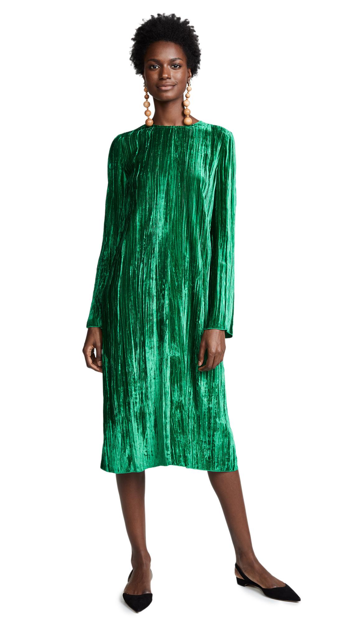 Forte Forte Pleated Velvet Dress