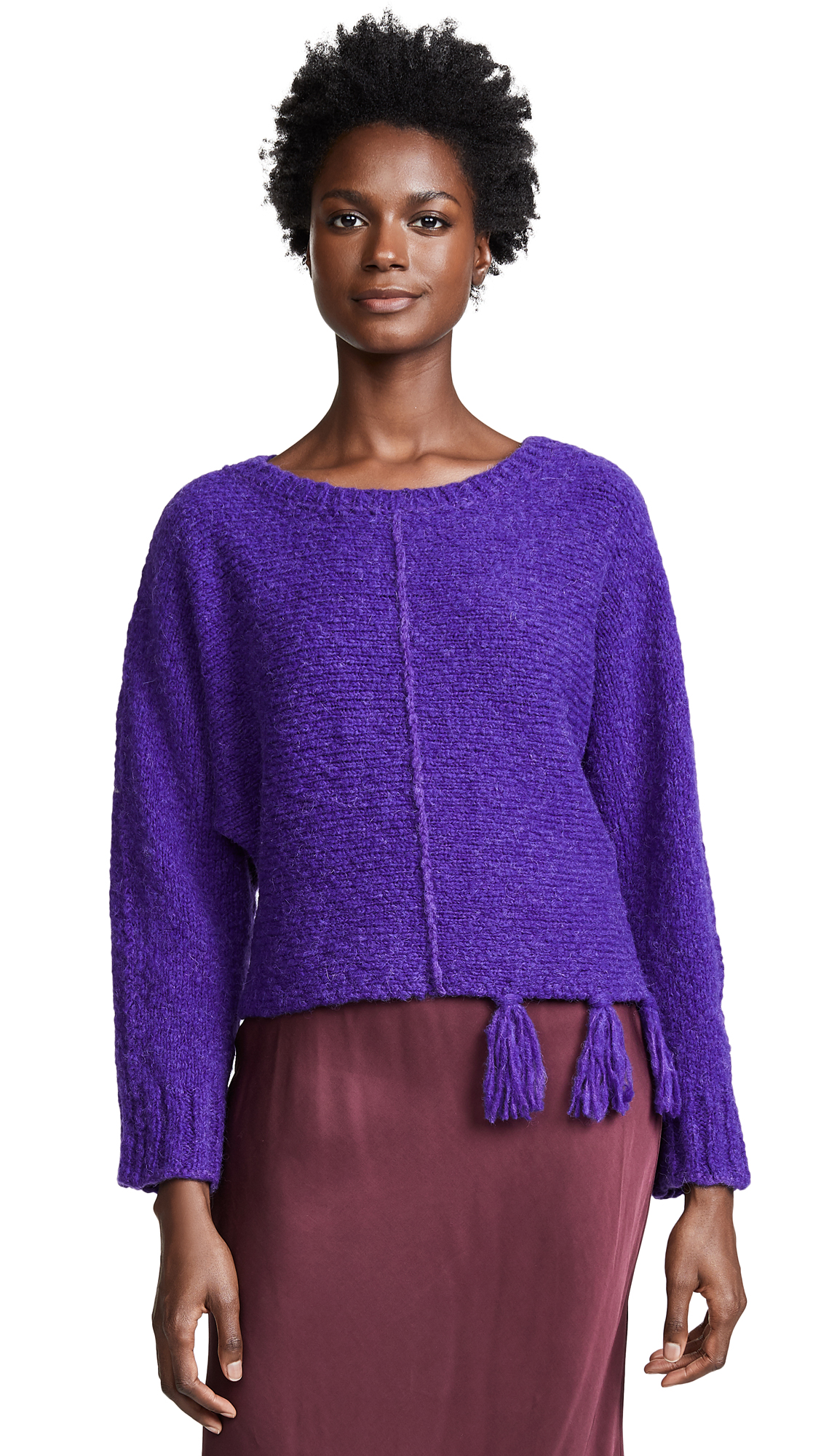 FORTE FORTE Round Neck Sweater in Violet