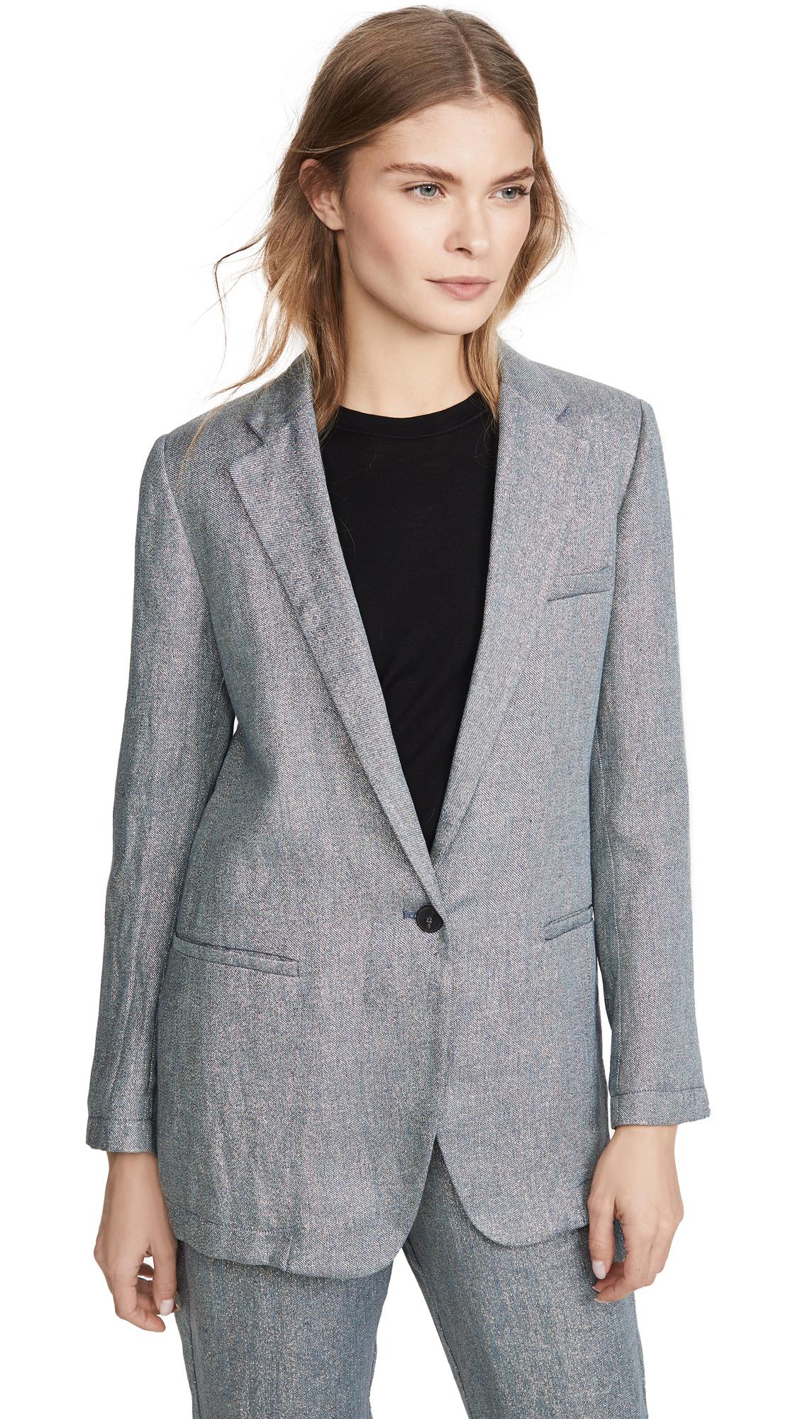 Buy Forte Forte online - photo of Forte Forte Linen Metallic Diagonal Jacket
