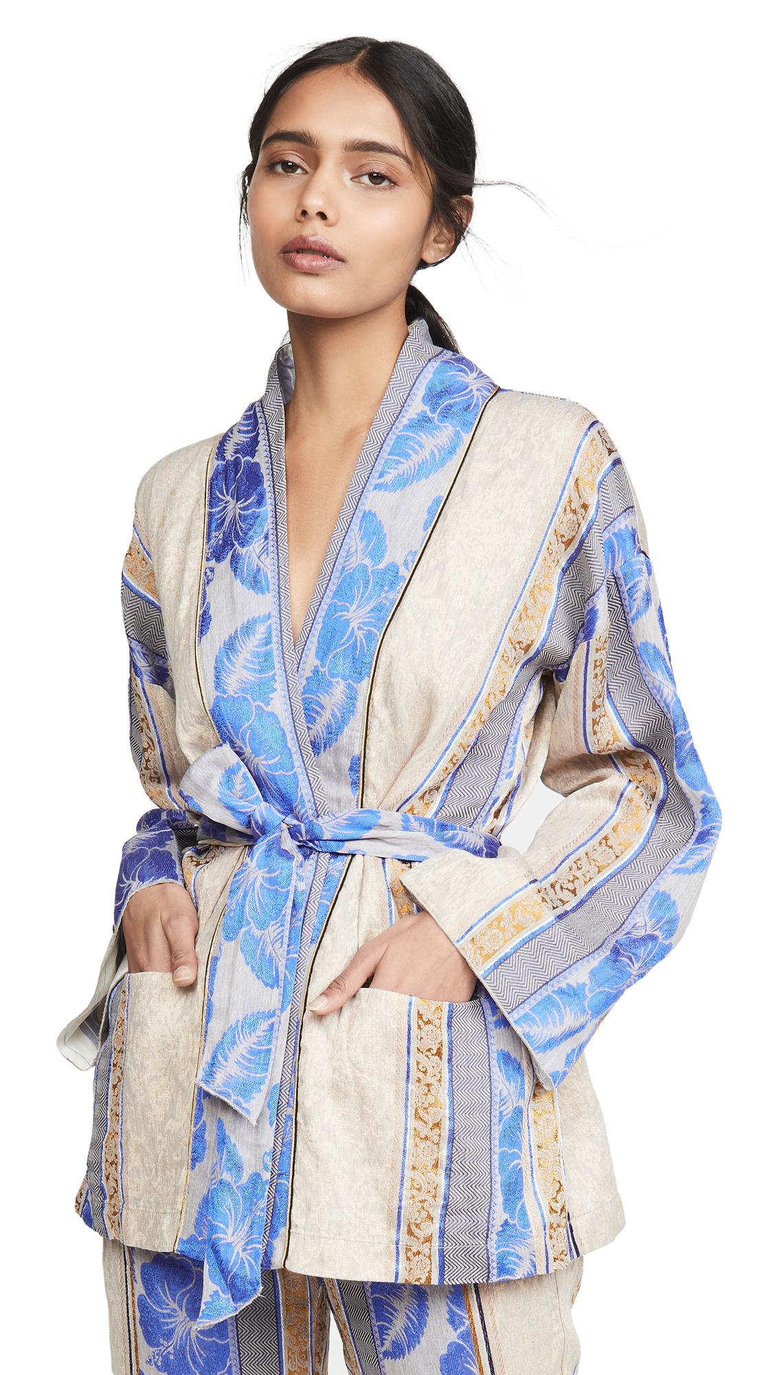 Buy Forte Forte online - photo of Forte Forte Saint Barth Jacquard Belted Jacket