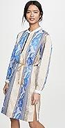 Forte Forte Saint Barth 提花织物长衫式连衣裙
