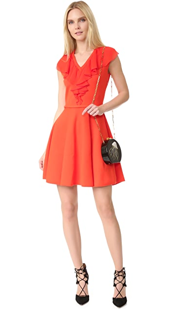 Giambattista Valli Sleeveless Dress with Ruffles