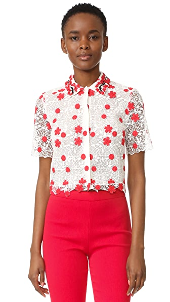 Giambattista Valli Embroidered Top