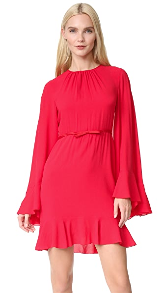 Giambattista Valli Cape Back Dress In Red