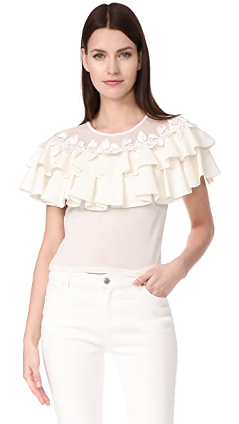 Giambattista Valli Tiered Blouse