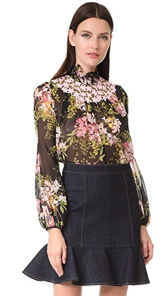 Giambattista Valli Long Sleeve Blouse