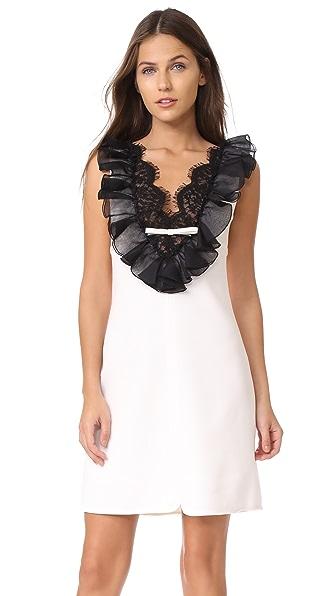 Giambattista Valli Sleeveless Mini Dress In Ivory