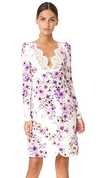 Giambattista Valli Long Sleeve Dress In Ivory