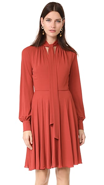 Giambattista Valli Long Sleeve Dress - Brick