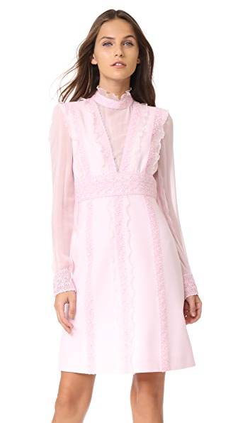 Giambattista Valli Long Sleeve Dress In Magnolia