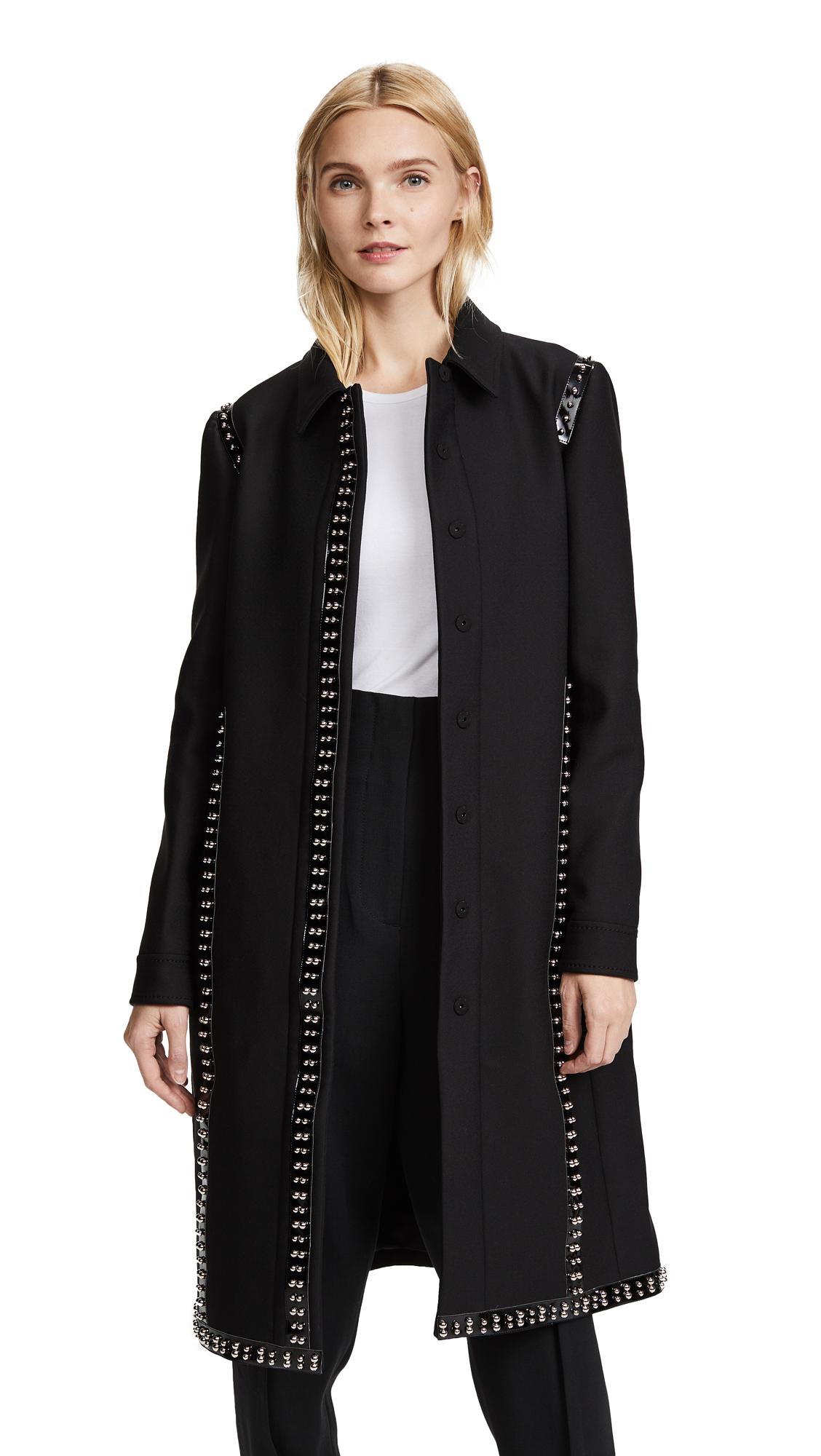 Giambattista Valli Long Collared Coat In Black