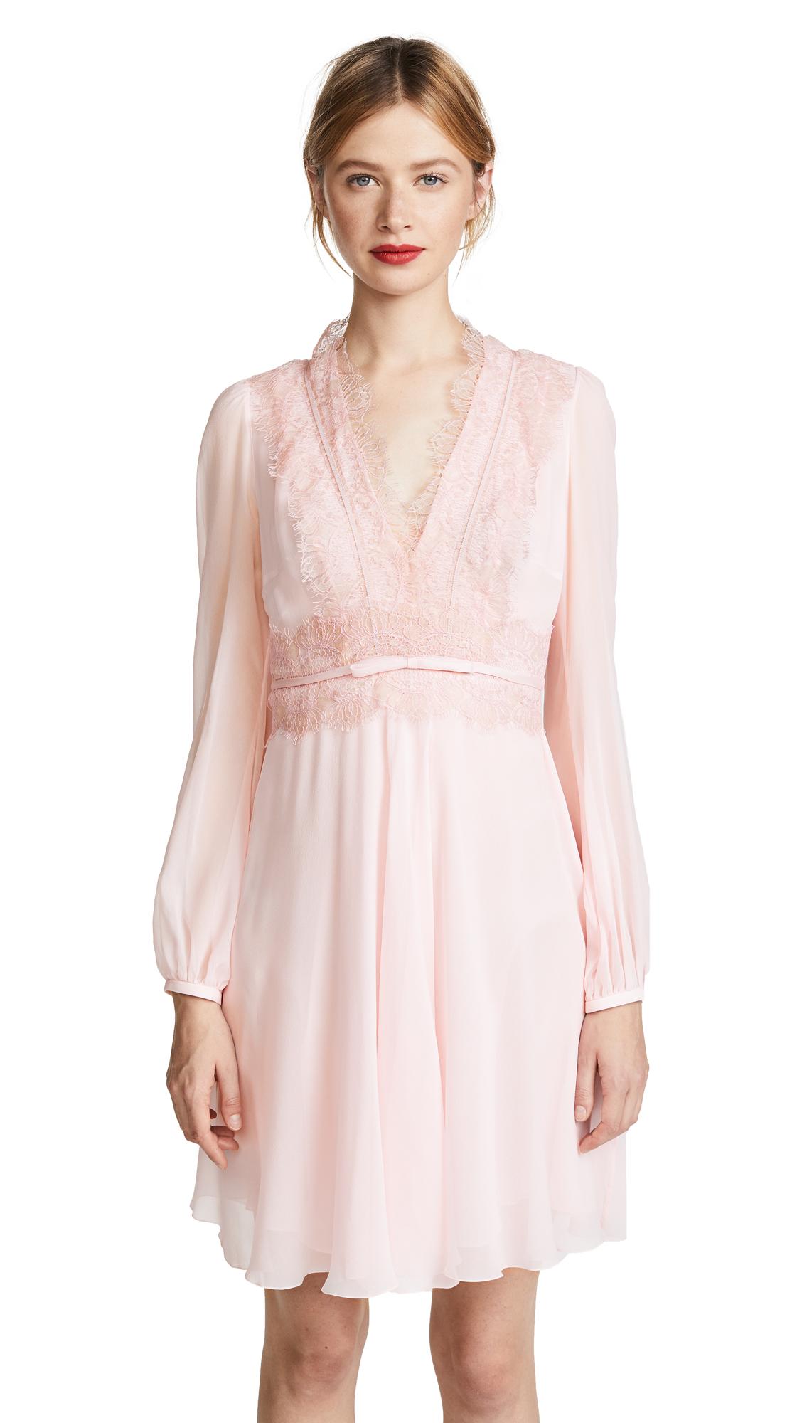 Giambattista Valli Lace Trim Mini Dress