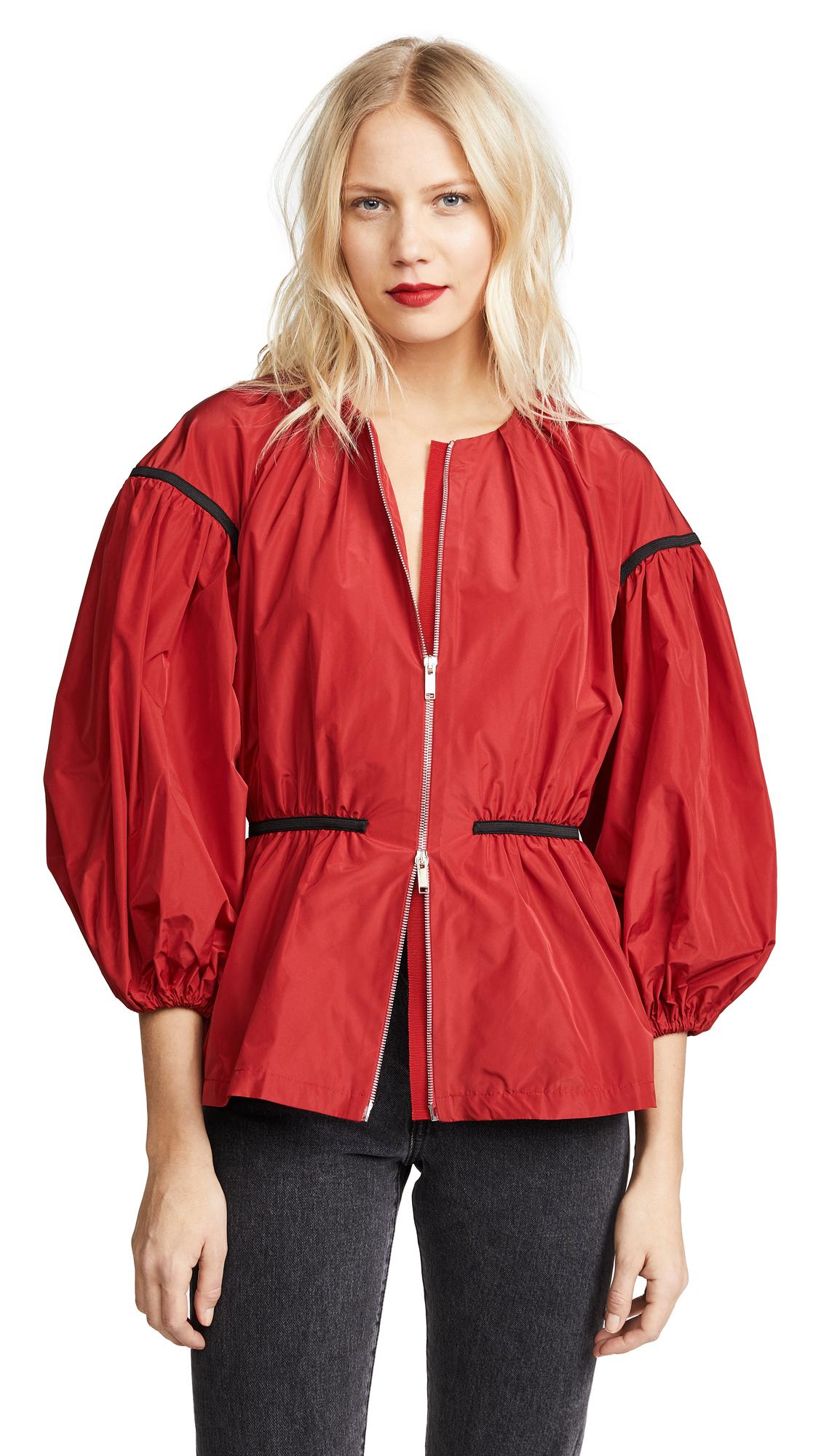 Giambattista Valli Puff Sleeve Zip Jacket - Rosso