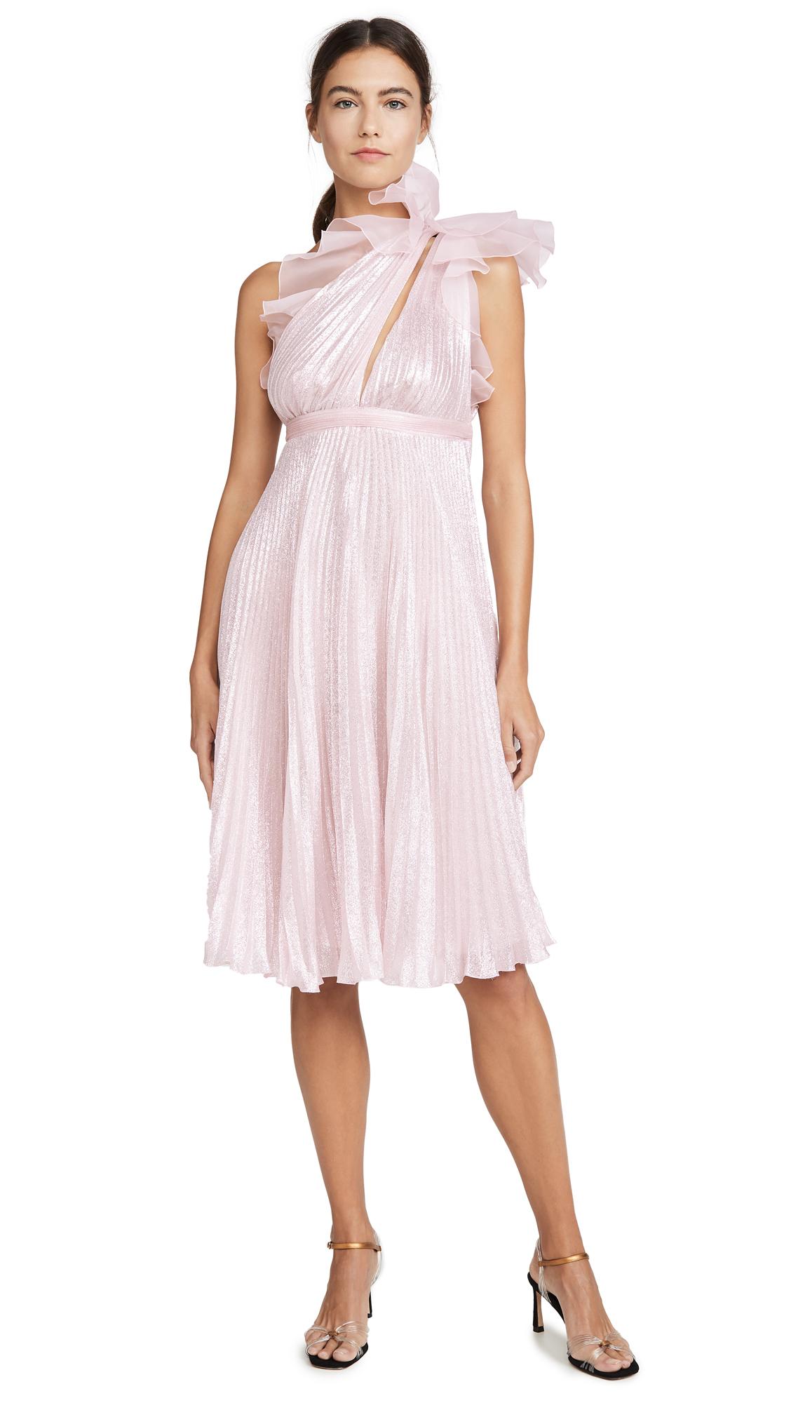 Buy Giambattista Valli online - photo of Giambattista Valli Metallic One Shoulder Dress