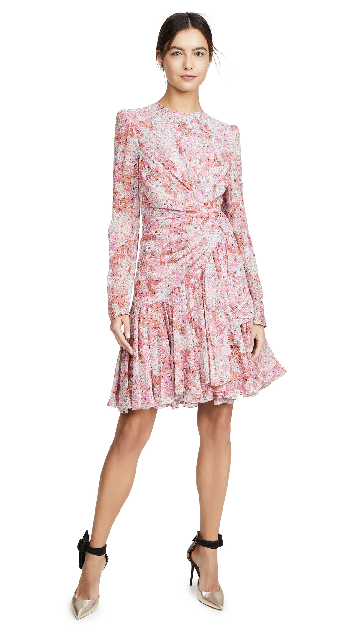 Buy Giambattista Valli online - photo of Giambattista Valli Long Sleeve Floral Mini Dress