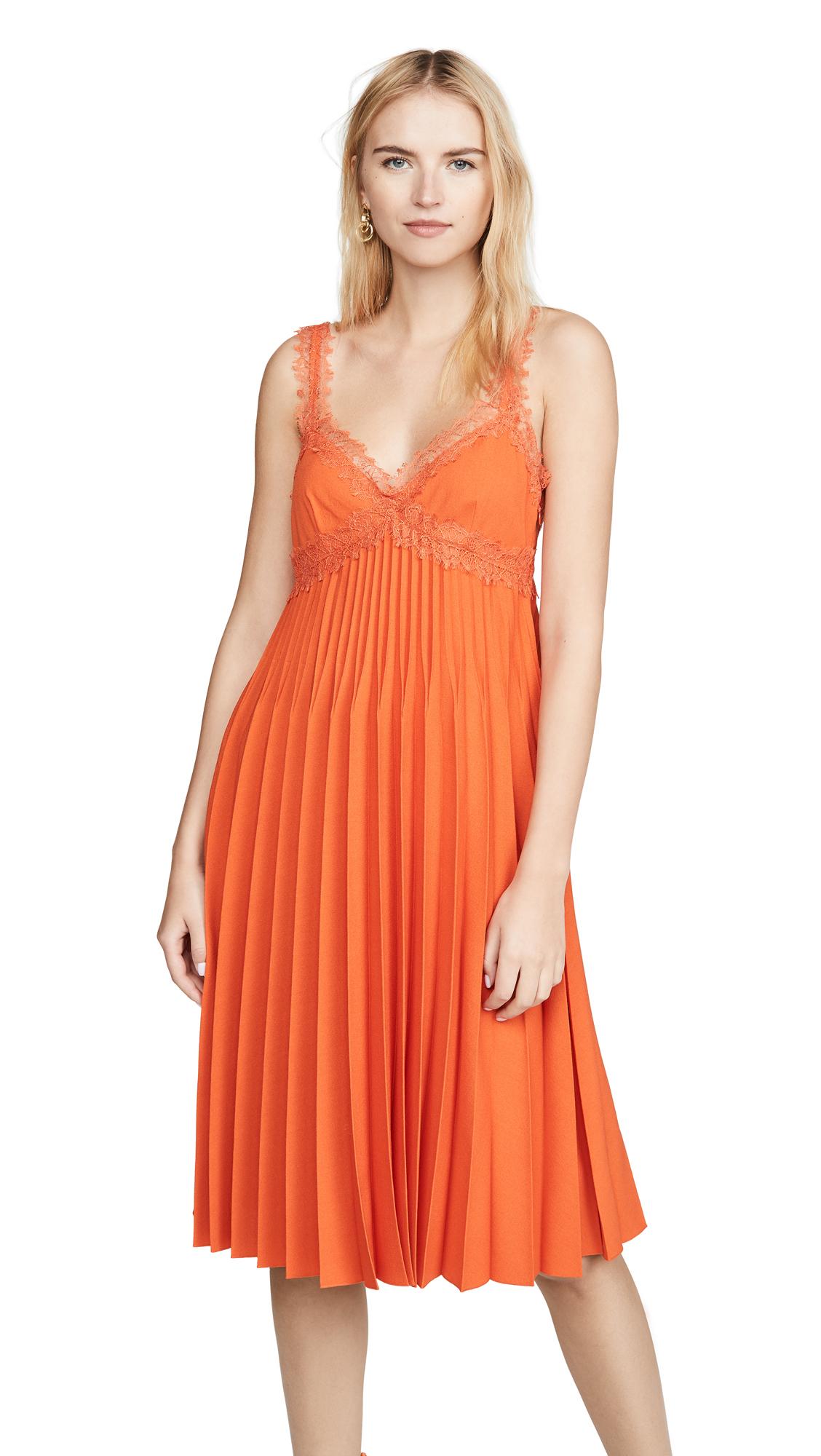 Buy Giambattista Valli online - photo of Giambattista Valli Pleated Midi Dress
