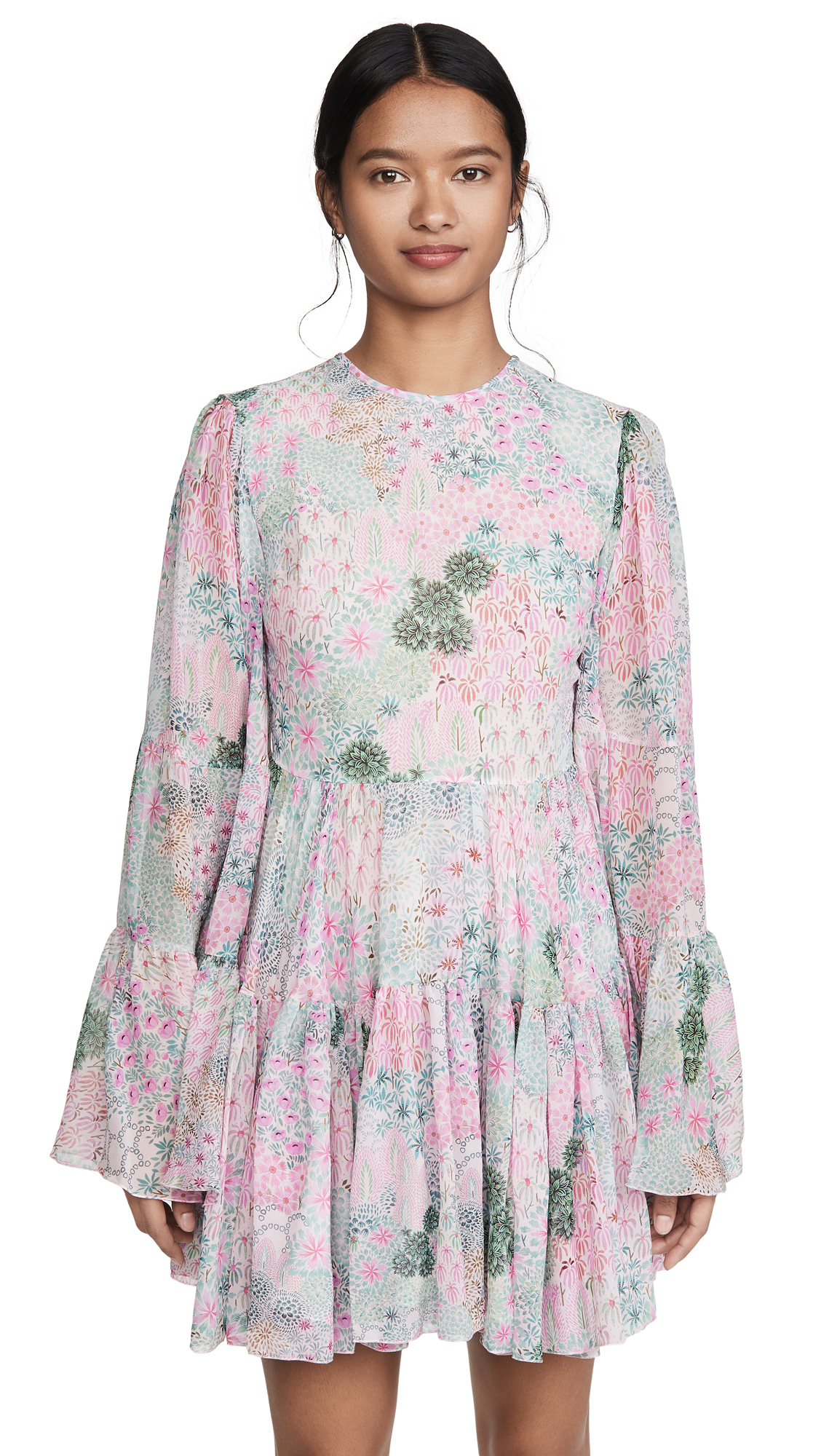 Buy Giambattista Valli online - photo of Giambattista Valli Long Sleeve Mini Dress