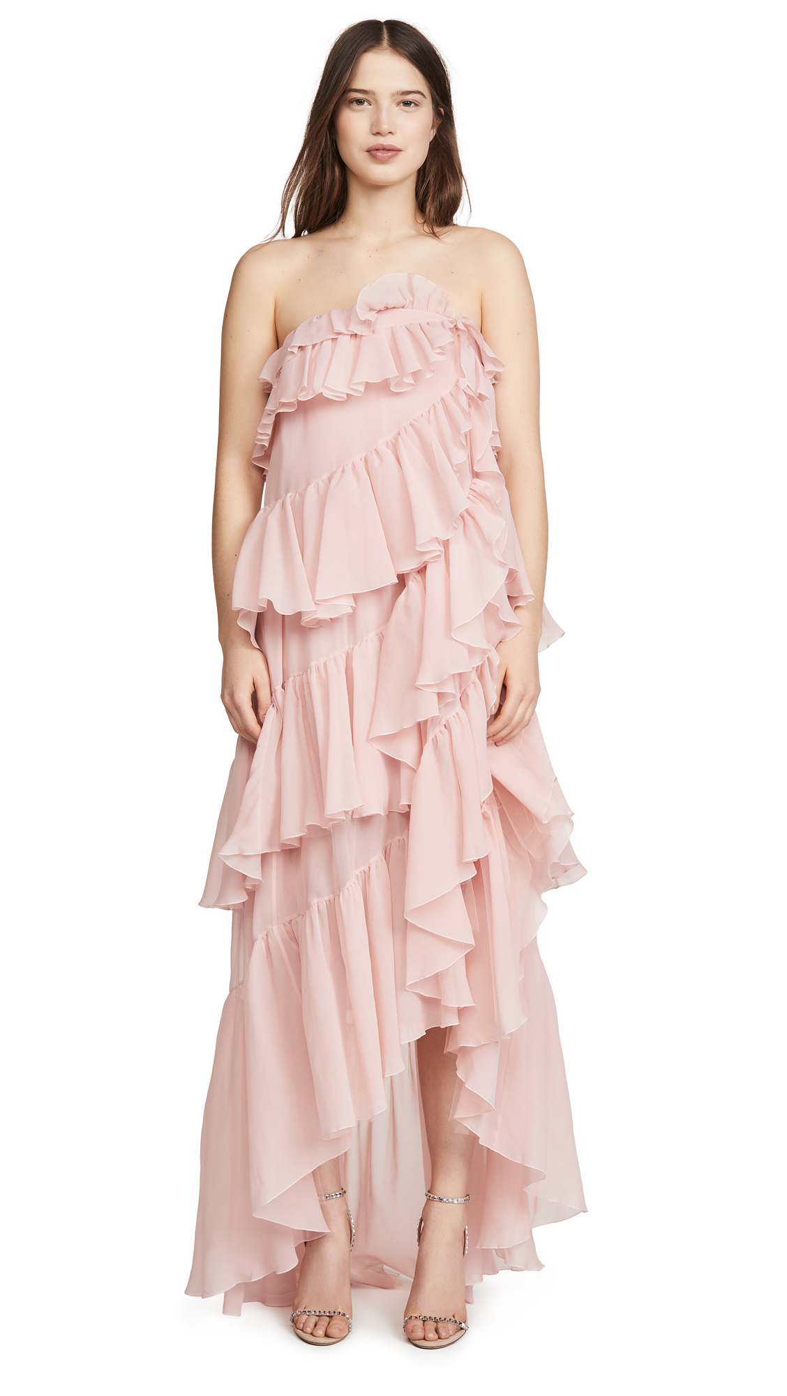 Buy Giambattista Valli online - photo of Giambattista Valli Strapless Tiered Gown