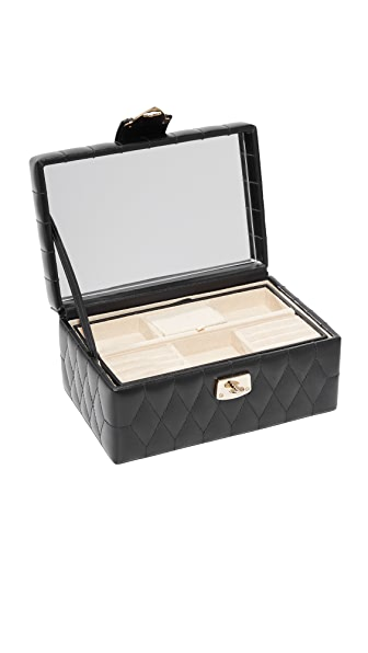 Gift Boutique WOLF Caroline Small Jewelry Case In Black
