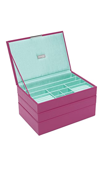Gift Boutique WOLF Medium Stackable Tray Set - Orchid