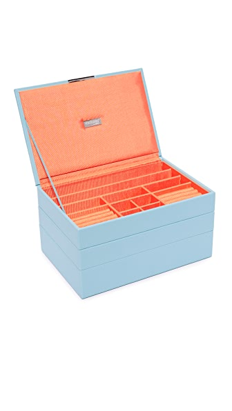 Gift Boutique WOLF Medium Stackable Tray Set In Aqua