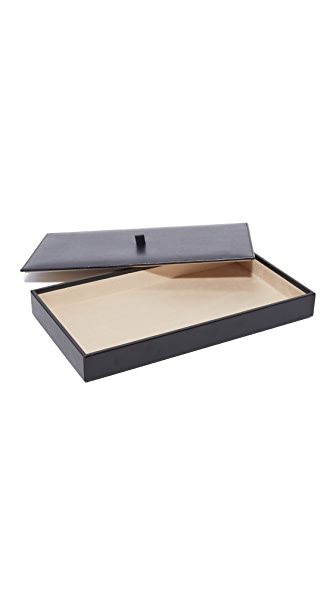 Gift Boutique WOLF Vault Tray Set with Lid In Black