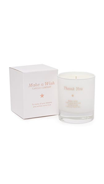 Gift Boutique Make a Wish to Say Thank You Candle In Vanilla