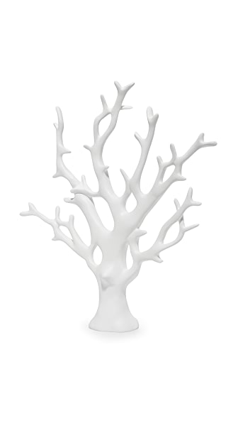 Gift Boutique Coral Tree Jewelry Holder - White