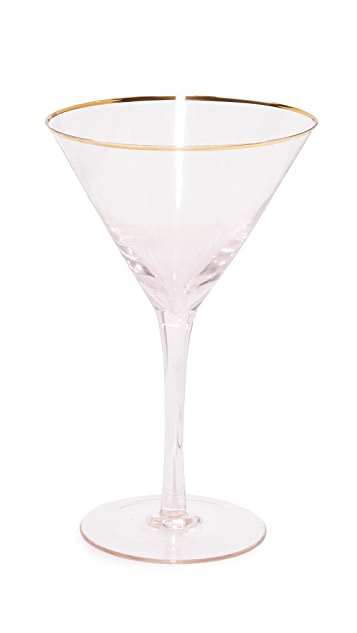 Gift Boutique Set of 4 Pink Martini Glasses