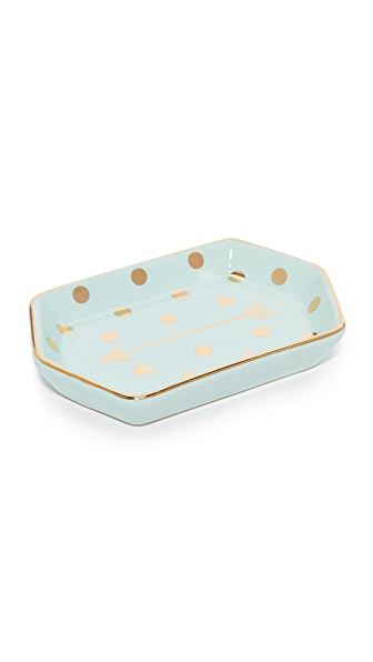 Gift Boutique Arrow Trinket Tray In Blue/Gold
