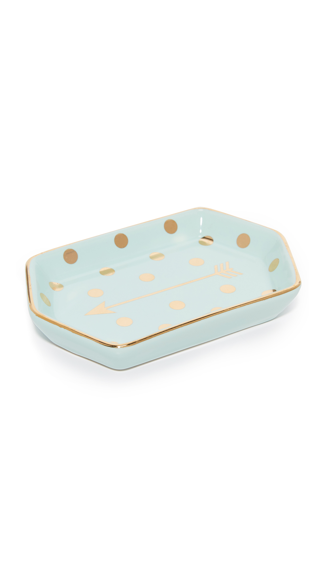 Gift Boutique Arrow Trinket Tray - Blue/Gold
