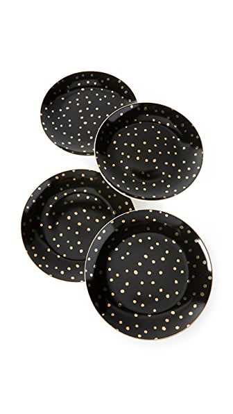 Gift Boutique Gold Dots Desert Plate Set
