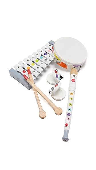 Gift Boutique Child's Confetti Musical Set In White Multi