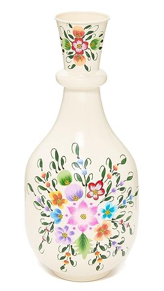 Gift Boutique Millofiori Vase - White