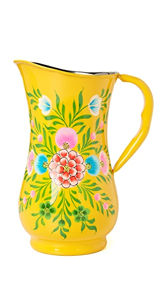 Gift Boutique Millifiori Jug In Yellow