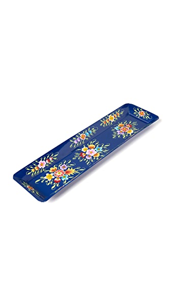 Gift Boutique Millifiori Long Tray - Navy