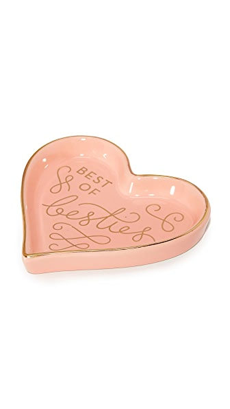 Gift Boutique Best of Besties Heart Tray