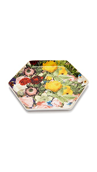 Gift Boutique Floral Hexagon Tray