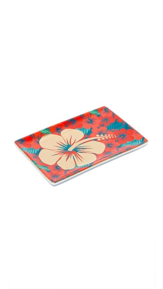 Gift Boutique Hibiscus Tray - Red