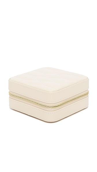 Gift Boutique WOLF Caroline Zip Travel Case - Ivory